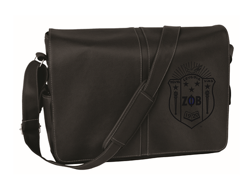 Zeta Phi Beta Shield Lamis Messenger Bag