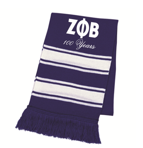 Zeta Phi Beta 100 Years Scarf