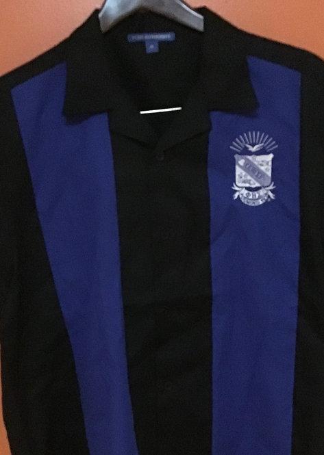 Phi Beta Sigma Royal/Black Camp Shirt