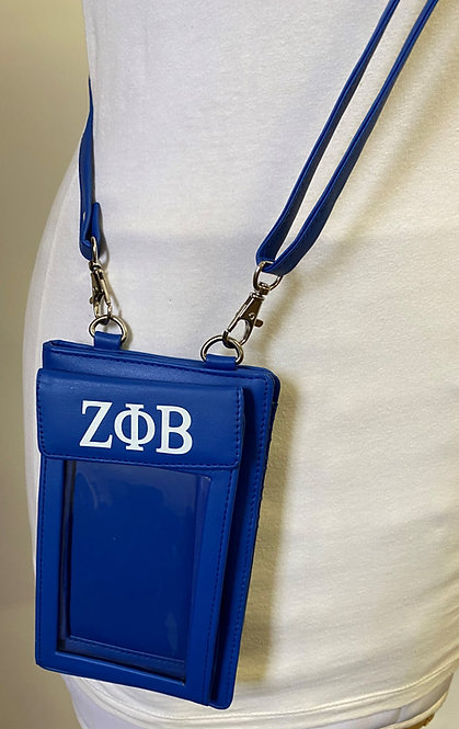 Zeta Phi Beta PU Cell Holder and Wallet Phone