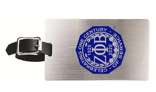 Zeta Phi Beta Centennial Luggage Tag