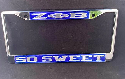 Zeta Phi Beta Car Frames