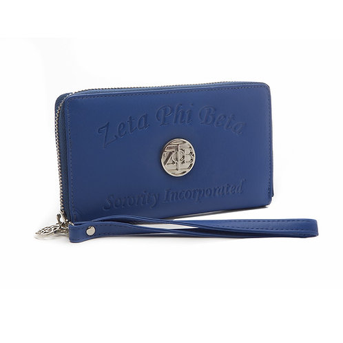 Zeta Phi Beta Embossed Soft Leather Wallet