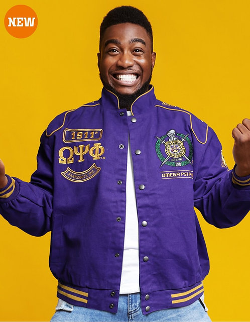 Omega Psi Phi Twill Jacket