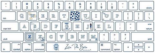 MacBook Greekpad Zeta Phi Beta Cover