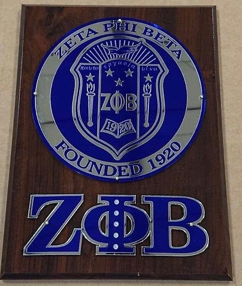 Zeta Phi Beta Shield Wall Plaque
