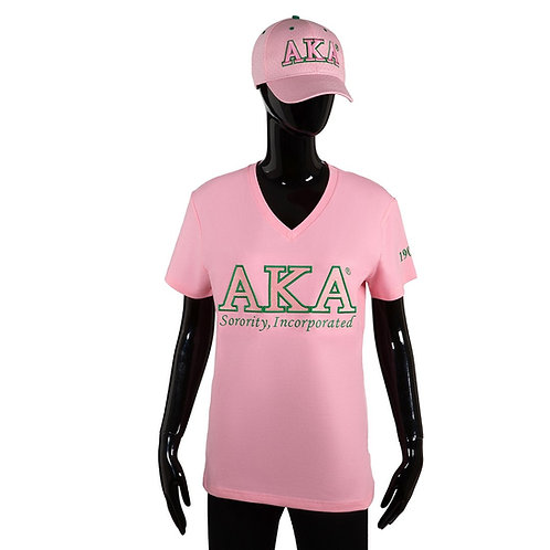 Alpha Kappa Alpha 3D v neck tee