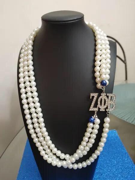 Zeta Phi Beta Popular Trend Necklace