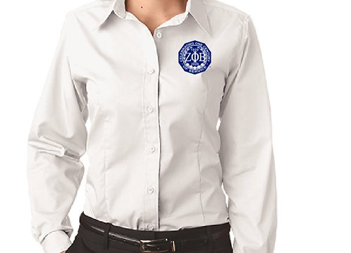 Zeta Phi Beta White Dress Shirt