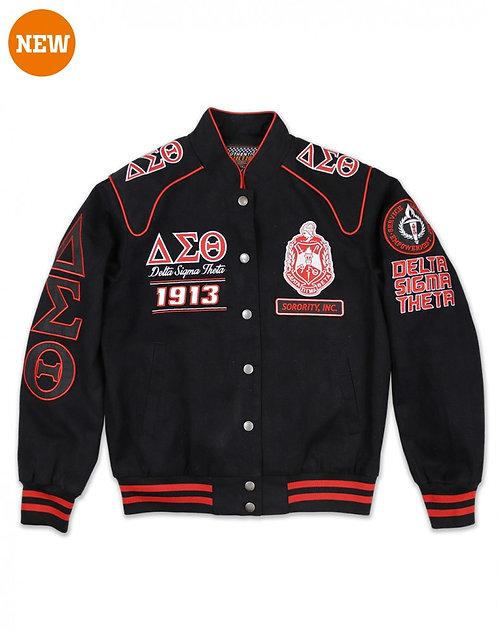 Delta Sigma Theta Black Twill Jacket
