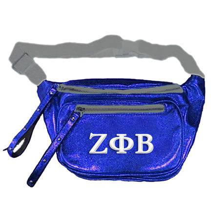 Zeta Phi Beta Embroidered Fanny Pack