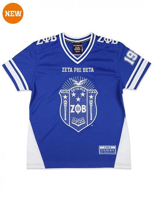 Zeta Phi Beta Bling Football Jersey