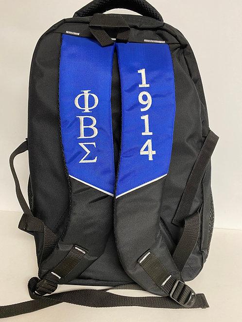 Phi Beta Sigma Black Backpack