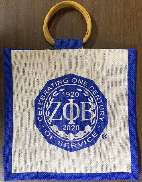 Centennial Mini Jute Bag Zeta Phi Beta