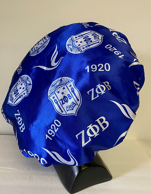 Zeta Phi Beta Satin Bonnet