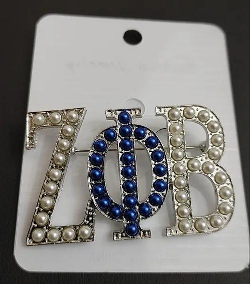 Zeta Phi Beta  Pearls PIn
