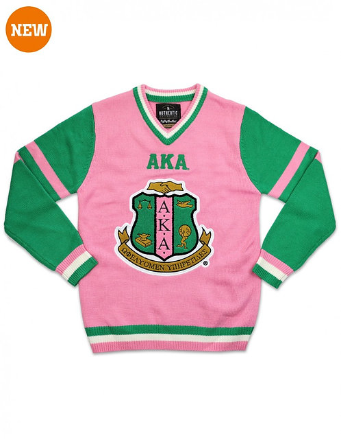 Alpha Kappa Alpha V neck sweater
