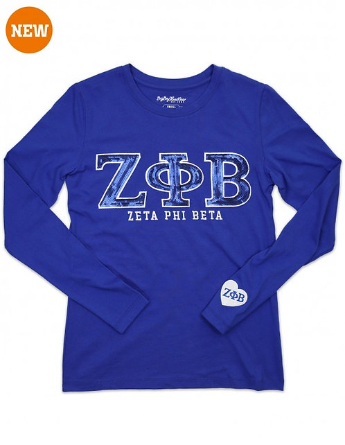 Zeta Phi Beta Sequin  Long Sleeve
