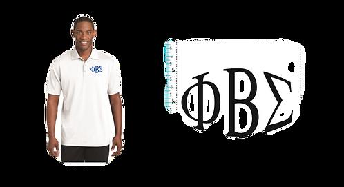 Phi Beta Sigma Sport-Tek Dri fit Mesh White polo