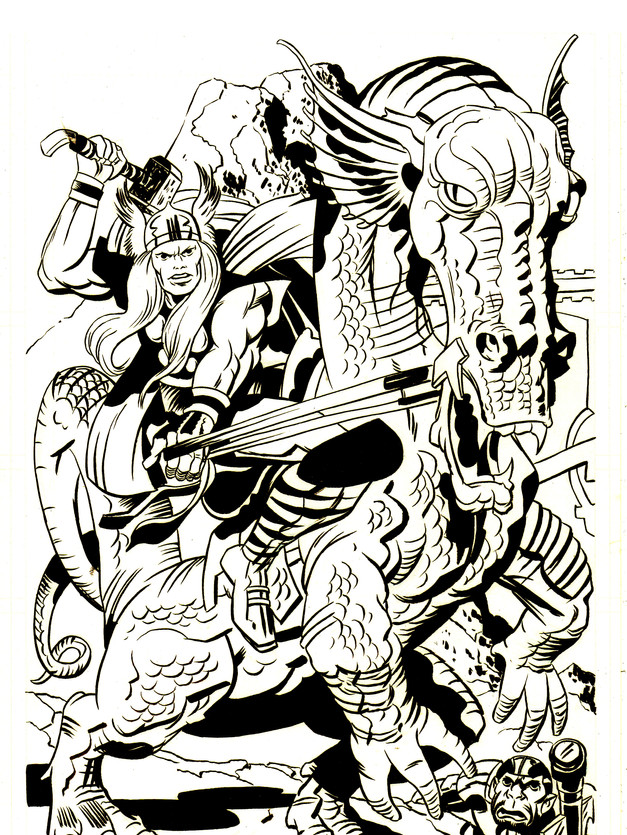 Thor by Jack Kirby - Inks by me
