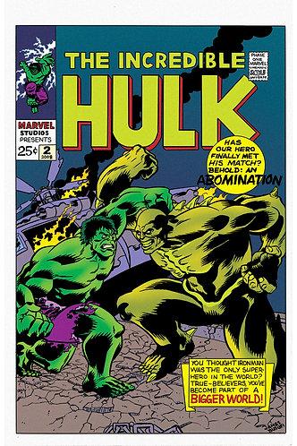 "The Incredible Hulk - MCU Initiative - 11x17"" Print"