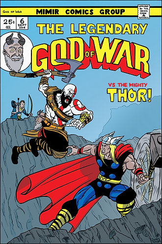 "God of War vs The Mighty Thor - 11x17"" Print"