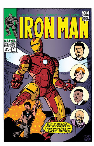 "Iron Man - MCU Initiative - 11x17"" Print"