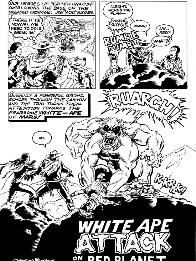 White Ape Attack on the Red Planet