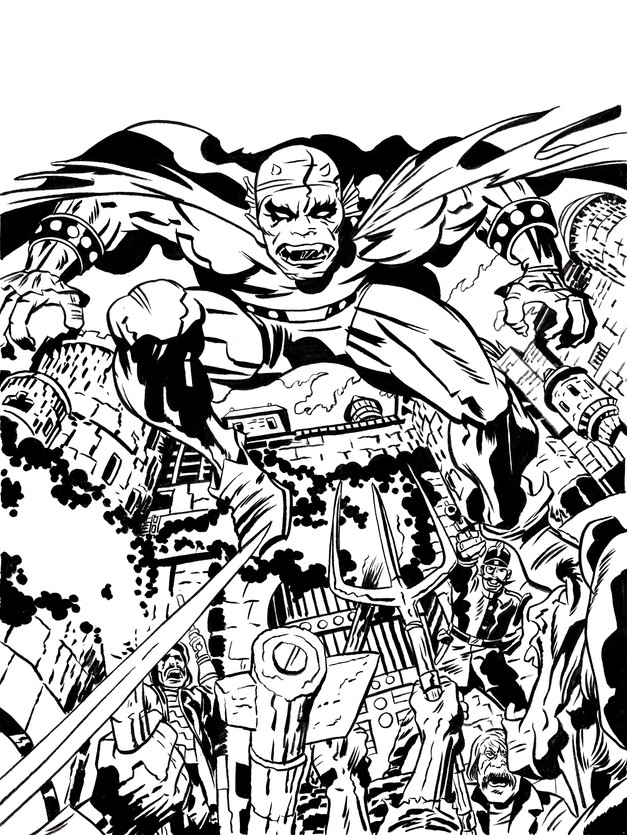 The Demon By Jack Kirby - Inks by me