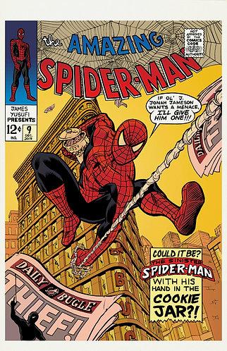 "The Sinister Spider-Menace - Lettered - 11x17"" Print"