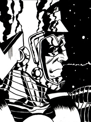 Galactus and The Surfer