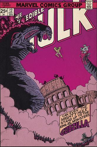 """Hulk vs Godzilla - 11x17"""" Print"""