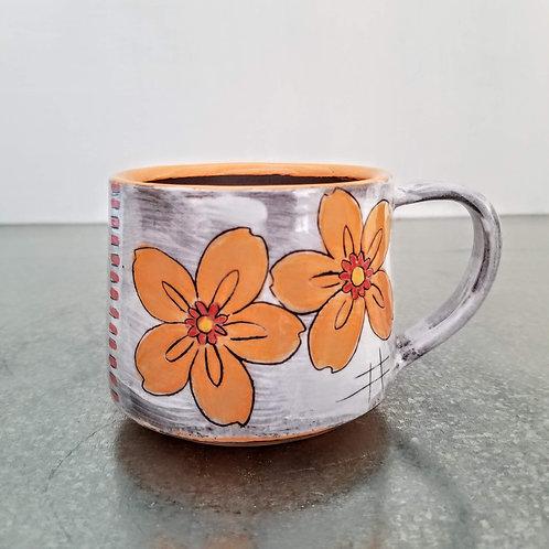 double orange blossom mug