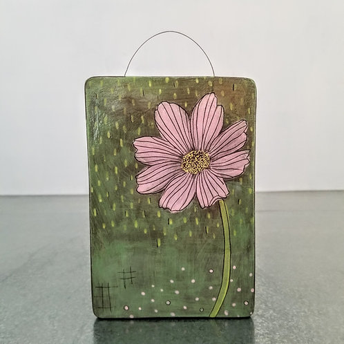 cosmos flower wall tile