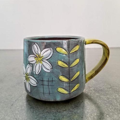 leaf + flower mug