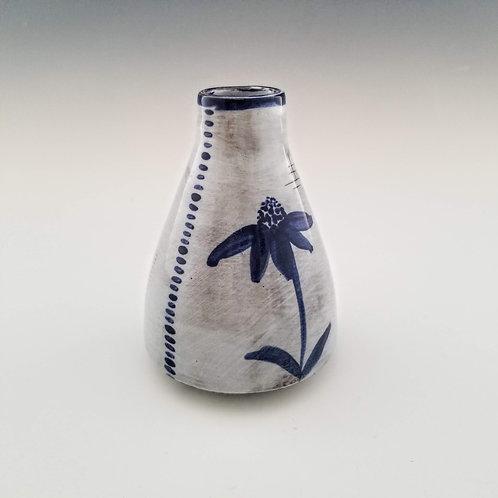 indigo echinacea bud vase