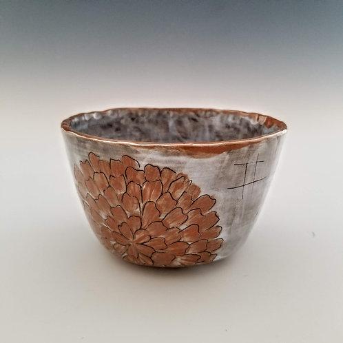 terra cotta zinnia ramen bowl