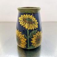 blue sky sunflower vase