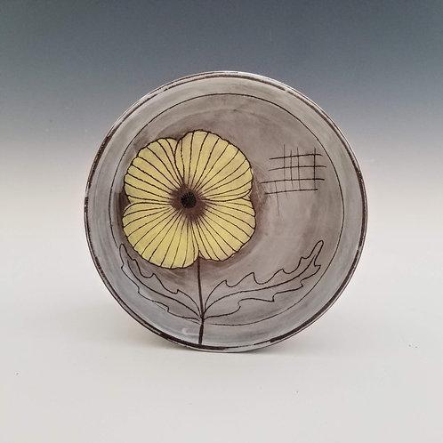 yellow poppy plate