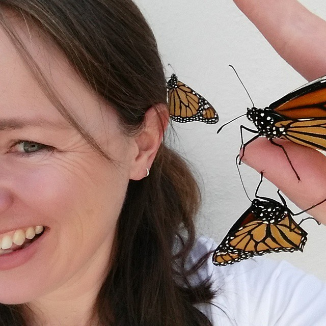 Instagram - #butterflyselfie #springaccessories #oakland #savethepollinators