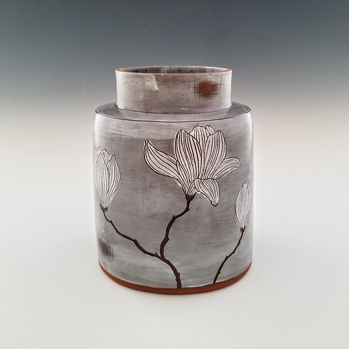 magnolia branch flower vase