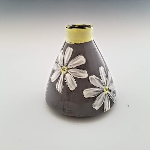 double cosmos flask vase