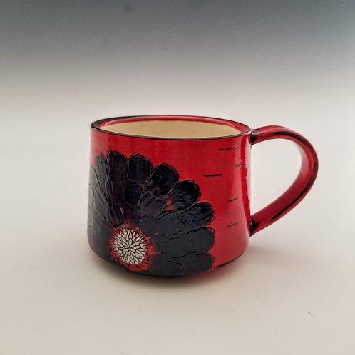 blue zinnia espresso mug