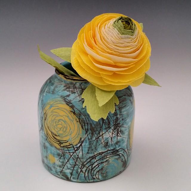 Instagram - Ranunculus vase with a matching paper ranunculus.jpg