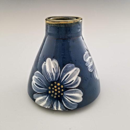 white blossoms flask bud vase