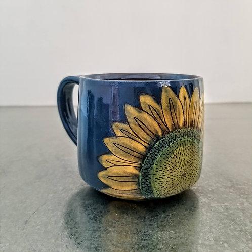 sunflower + sky mug