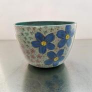botanical sketchbook serving bowl
