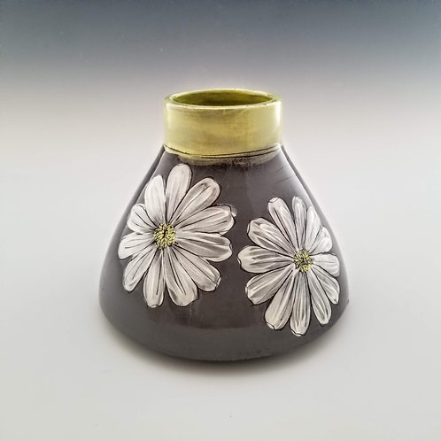 extra large double cosmos flask vase
