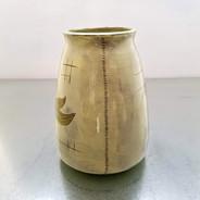 white peony vase