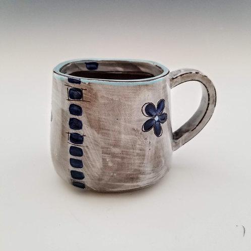indigo blossoms mug